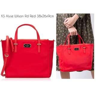 Authentic Kate spade alyse wilson road bag - Red 9a5032da474e9