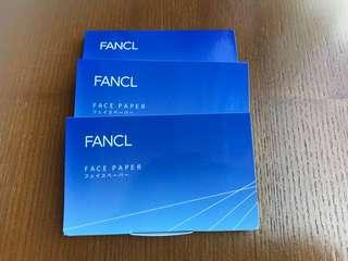 全新 Fancl 面油紙 一盒三包(包郵)