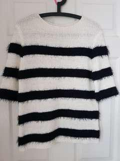 Knitted furry Top