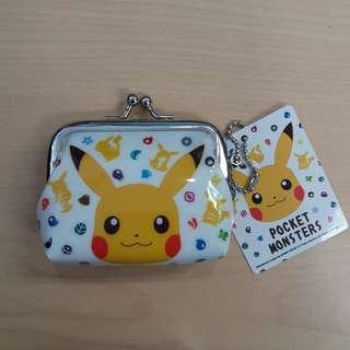 日本比卡超散銀包 pikachu coins bag Japan Nintendo pokemon pocket monster