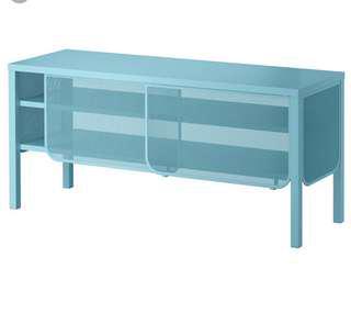 Ikea tv console used blue