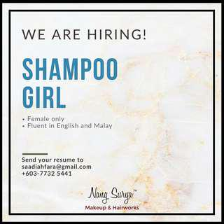 Looking for Shampoo Girl!