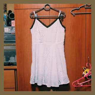 forever 21 white camisole lace dress idk