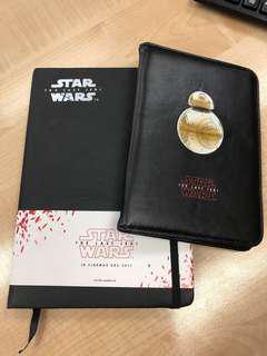 Star Wars notebook(available) & passport cover (sold)