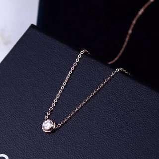 Rose gold petite necklace simple