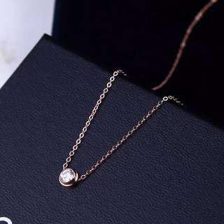 Rose gold petite necklace simple