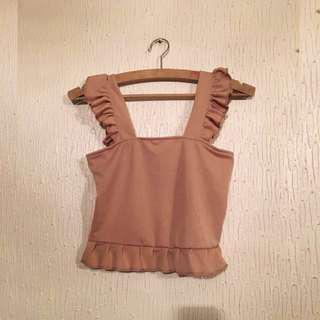 *AUGSALE* UNBRANDED Ruffle Cropped Top