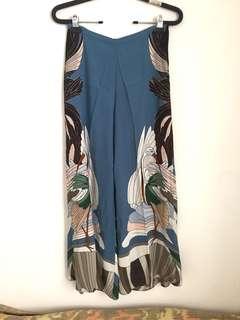 Zara Tropical Wide-Legged Pants