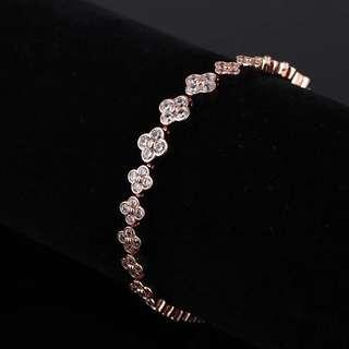 Rose gold plated brass bracelet