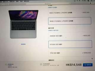 "MacBook Pro 13"" 2017 Apple 16gb Ram 512gb SSD"