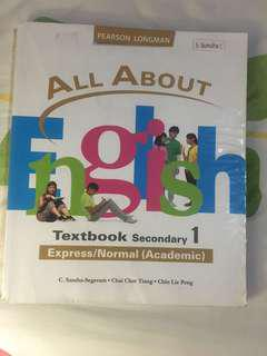 Pearson Longman All About English Textbook Secondary 1 Express/Normal (Academic)
