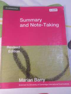 Cambridge Summary and Note-Taking Revised Edition by Marian Barry