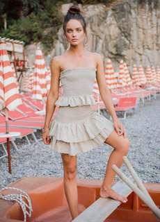 Sir The Label Kaya Ruffle Skirt WHITE