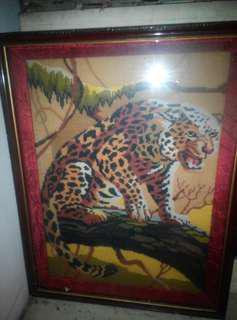 Lukisan Kristik Macan Tutul