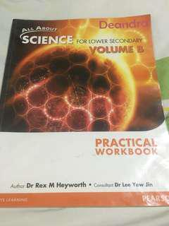 All About Science for Lower Secondary Volume B Practical Workbook