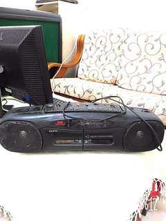 三洋卡帶收音機手提音響 SANYO