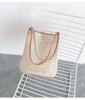 Rattan Beach Bag