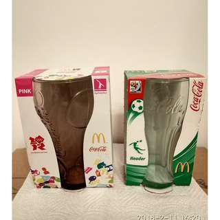 全新.麥當勞世界盃玻璃杯2隻