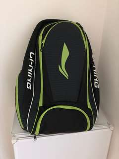 Large Li-ning badminton backpack bag