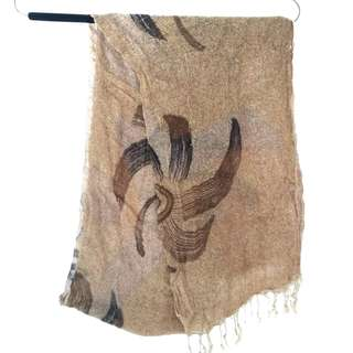 Scarves Scarf Light Brown / Syal Coklat Muda