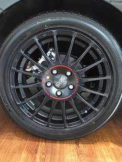 """17"""" OZ superturismo GT with yokohama tyres"""