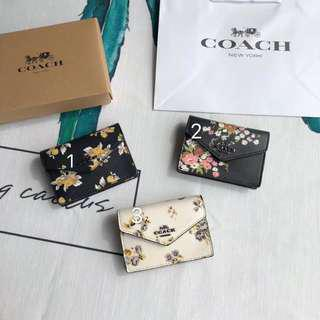 美國正品代購coach59746花卉零錢袋