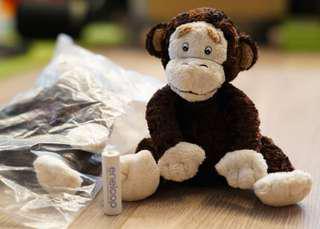 全新 monkey 可愛馬騮毛公仔
