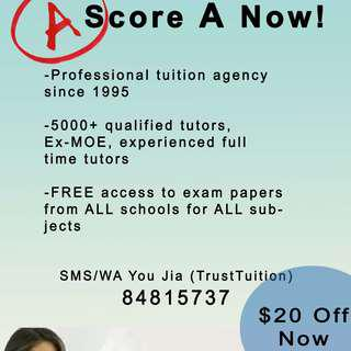 Professional tuition agency to look for ideal tutor for you