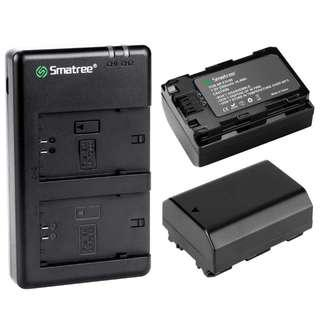 Smatree 2-Pack NP-FZ100 Lithium-Ion Battery + Dual Charger for Sony Cameras (3 Year Local Warranty)