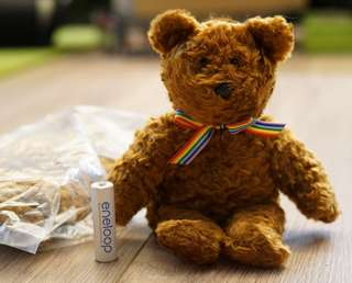 全新 可愛bear熊人毛公仔