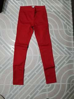 Wore Once H&M Red stretch Jeans
