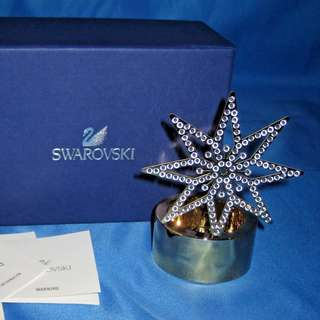 Swarovski Tea Light Golden Star Candle Holder with original box