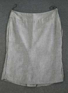 MANGO Grey-Silver Skirt