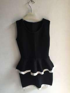 Dress peplum knit