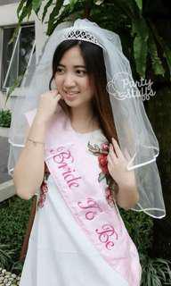 Sash bridal shower