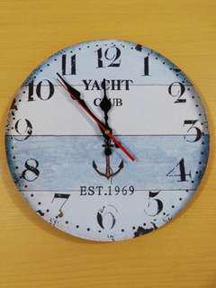 全新北歐海洋風格藍色掛牆鐘