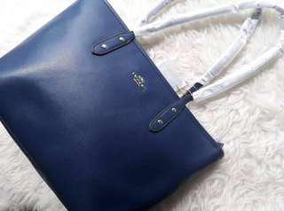 NEW! Coach Navy Tote Bag