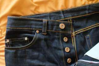 Jeans selvedge Hitam Murah (16,5 Oz)