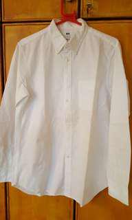 Uniqlo M white cotton shirt