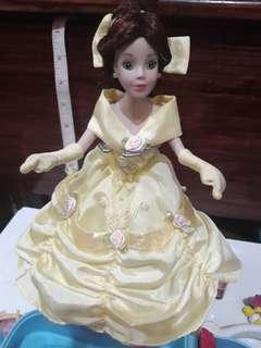 "Disney 9"" Belle Porcellain Dolls"