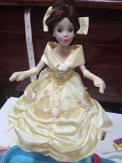 "Disney 9"" Belle Porcellain Dolls"