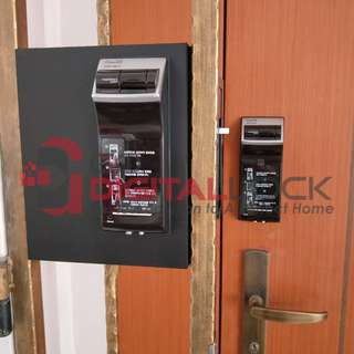 Gateman WF20 Fingerprint Digital Lock install on Main Door & Metal Gate at $750