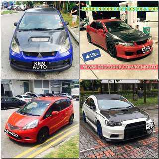 Weekday modded sporty car rental avail now (honda civic / Honda Integra / Honda Fit RS / Mitsubishi Lancer ex / colt R / Subaru Impreza SGT turbo / Toyota axio)