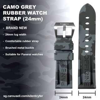 BN Grey Camo Watch Strap 24mm Panerai