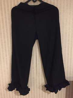 Shopataleen Black Ruffle Culottes / Kulot Hitam