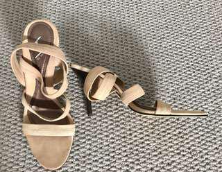 Senso Nude Strap Heels Sz 9