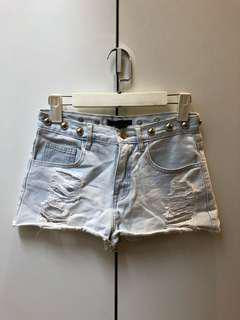 Forever 21 Light Wash Shorts (High Waisted)
