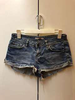 2.1 Denim Mid Wash Shorts (Low Waist)