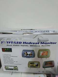Car headrest TV