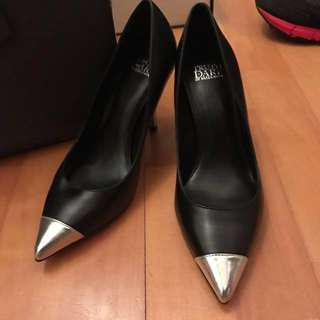 Truth Dare By Madonna Black Silver Heels Pump 90mm Size 37.5 New grad din graduation dinner 謝師宴 黑 銀色 高踭鞋